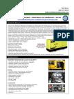 Vegetable Oil Generator Specs - 165 KW