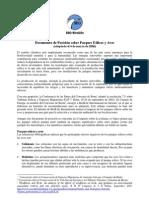 Documento de Posición sobre Parques Eólicos y Aves