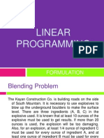 LINEAR PROGRAMMING Formulation Example