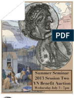 YN Auction catalog for the 2013 Summer Seminar, Session II auction