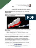 Diferencia entre Planeacion Estrategica y Pensamiento Estrategico