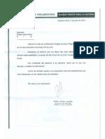 Rectificación de la secretaria parlamentaria Diputada María Teresa García