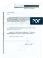 Rectificación enviada a Página 12 por la secretaria parlamentaria diputada María Teresa García