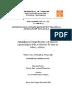 Aprendizajes transición Agroecológica.