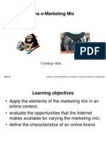 The E Marketing Mix