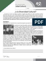 Ficha 1, Que Es La Diversidad Cultural