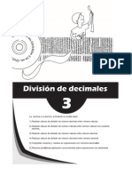 Matematica 6to - Unidad 3 - Division de Decimales