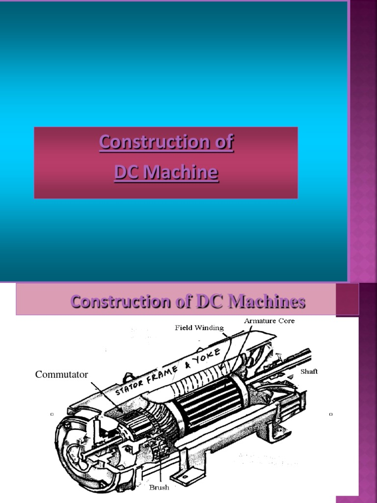 Ee-mc1- - Construction of d.c. Machine   Electric Motor   Electric ...