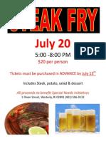 Steak Fry Flyer