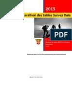 Marathon Des Sables Survey Data