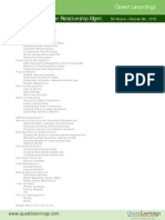 Course Outline SAP CRM