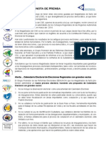 Nota de Prensa Al Pronunciamiento Gpre Cp 01-07-2013