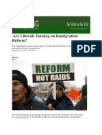 Are Liberals Turning on Immigration Reform