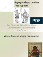 Gog and Magog – where do they first appear