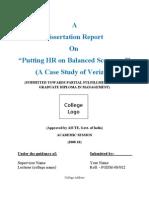 Dissertation Report on Putting HR