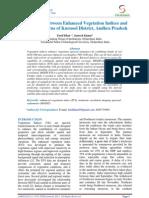 Correlation Between Enhanced Vegetation Indices and Rainfall Patterns of Kurnool District