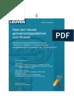 Territorialiteit, Identiteit en Conflict in Brussel - Naar Een Nieuwe Gemeenschappelijkheid