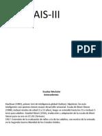 Presentación wais III