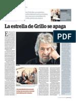 La estrella de Grillo se apaga