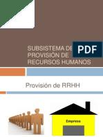 Tema 6 Subsistema de provisión de recursos humanos