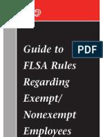 Adp Flsa Rules on Exempt v Non Exempt