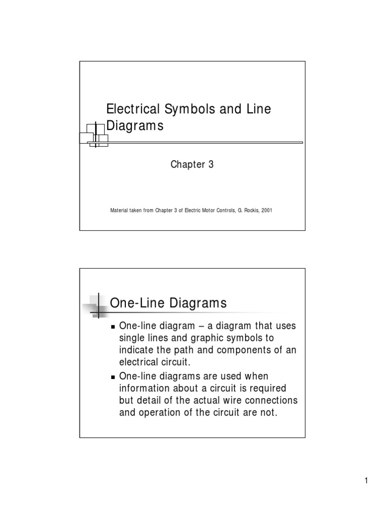 Electrical Symbols And Line Diagram Switch Electric Motor
