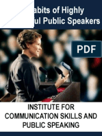 11 Habits of Highly Successful Public Speakers - 4 Day Intensive and Interactive Program