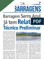 Barragem Serro Azul já tem RTP - Notícia