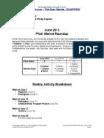 Scoggins Report - June 2013 Pitch Market Roundup