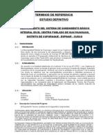 Terminos de Referencia Saneamiento Huayhuahuasi-ferro