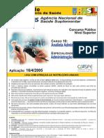 Analista Administrativo ASN 2005