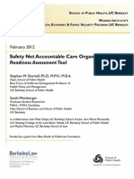 Safety Net ACO Readiness Assessment Tool