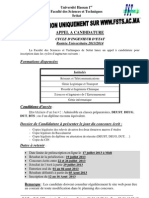 Appel Candidature FI 2013-14