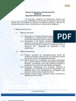 Lineamientos de Seminario 2013 Seguridad Alimentaria_sesan_sincontrolcambios