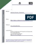 Lectura 1 - Diseño y evaluación de proyectos de desarrollo