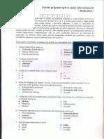 Probni Prijemni Test Iz TOI Na FON 2013 Resenja