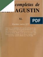 San Agustin Obras Completas Xl - Escritos Varios - 2ß (scan)
