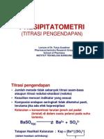 03. Aplikasi Titrasi Pengendapan