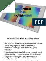 Interpolasi Dan Ekstrapolasi
