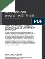 Modelado con programación lineal