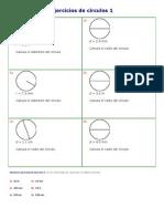 Ejercicios de círculos 1