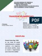Presentac..[1] TRANSDISCIPLINARIEDAD