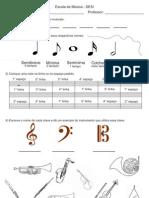 Exercícios teoria musical