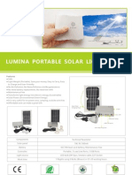 Lumina Portable Solar Lighting Kit Flyer v1.8