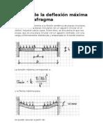 Cálculo de la deflexión máxima en un diafragma