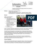 City of Chicago's Safe Routes Ambassadors Final Report 2010-2011