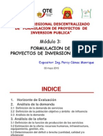 Fase_de_formulacion-De Proyectos de Inversion- Julio 2013