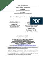 Jurnal Sistem Informasi - Edisi September 2009