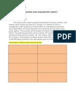 Organization and Management Aspect