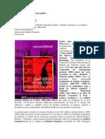 Antropología de la violencia política